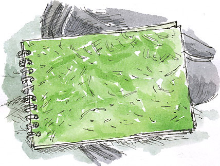 lime green sketchbook