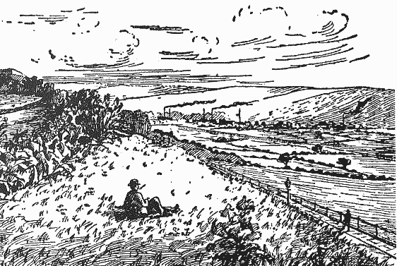 Storrs Hill c.1890 by Frank C.J. Cockburn, from 'Cockburn's Ossett Alamanac'.