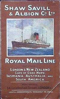 Tainui passenger list 1921