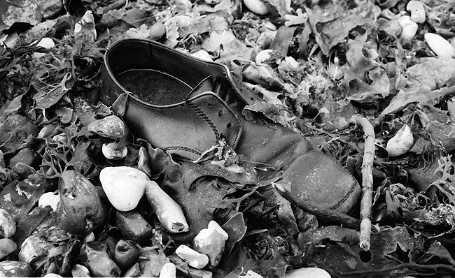shoe on the beach 1973