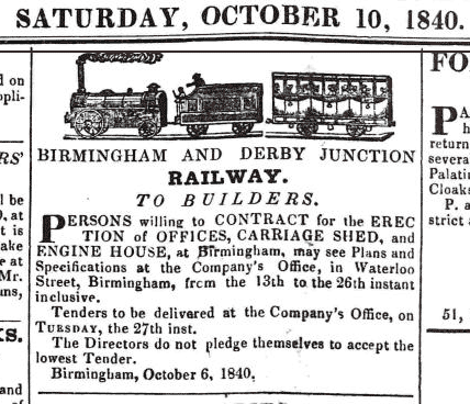 Railway advertisement