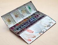 Winsor and Newton watercolour box