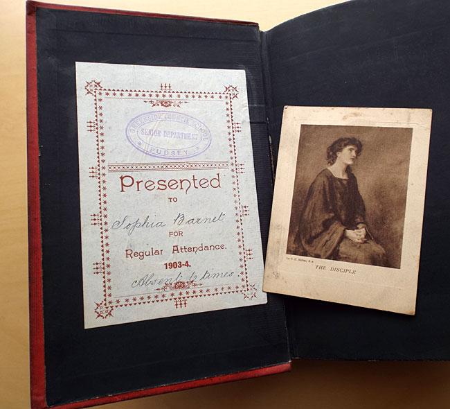 Sophia Barnet's school prize