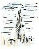 spire in the mist