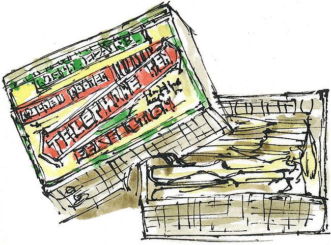 Telephone Pen box sketch
