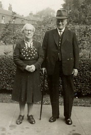 Grandma and Grandad Bell at Smeath. They met at the celebrations for Queen Victoria's Diamond Jubilee.