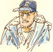 man in baseball cap