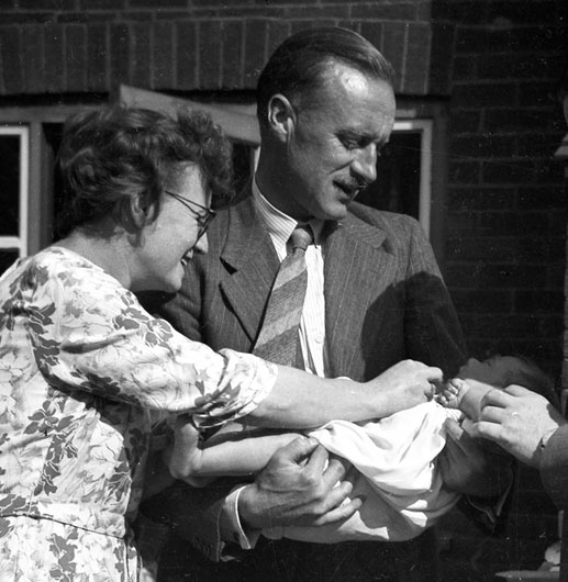 Barbara and Jack at my christening