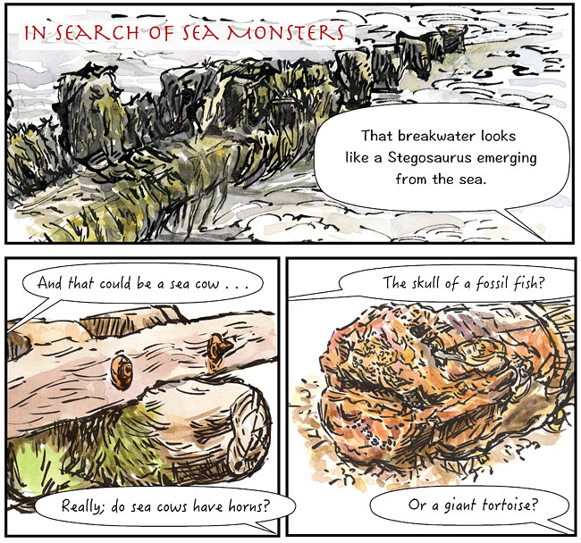 sea monsters comic