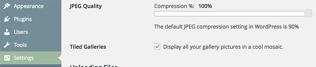 Setting compression to 100% in the Media settings in WordPress. But it still compresses to 90%!