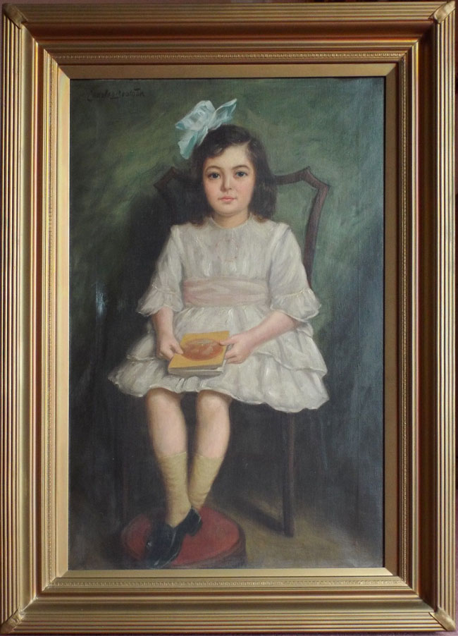 Gladys Joan Swift, oil painting by Charles Beatson.