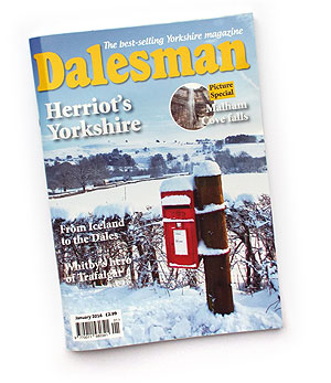 This month's Dalesman includes spectacular photographs of the waterfall at Malham Cove, following persistent rains at the beginning of December. A once in a lifetime event.