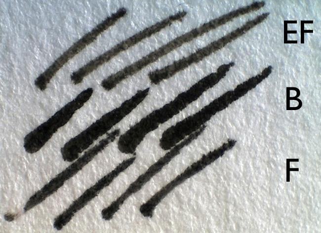 lamy pen marks