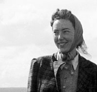 Mum heading for the hills in the 1940s.