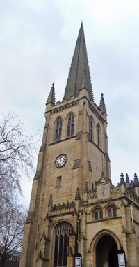 Wakefield Cathedral spire is 247 feet high. Whenever I try to picture a thousand feet, I think of four Wakefield Cathedral towers.