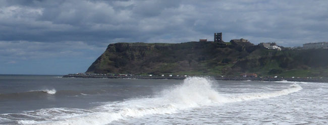 High tide, North Bay, Scarborough.