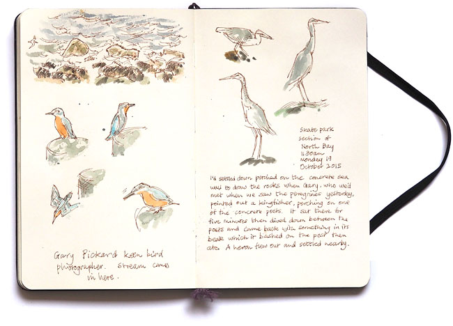 Moleskine sketchbook page, October 2015.
